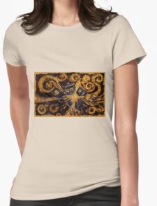 Doctor Who- Van Gogh Exploding Tardis Womens Fitted T-Shirt