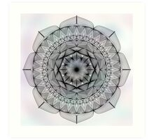 Mandala on Watercolour, No Background Art Print