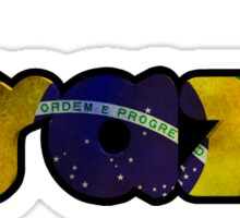 Brazil Text Flag Sticker