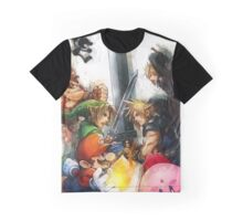 Cloud Vs Link Polygon Version Graphic T-Shirt