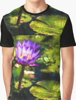 Waterlilies Impressions – Sunny Purple Pair Graphic T-Shirt