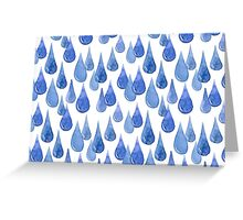 Water drop watercolor hand drawn seamless pattern background. Greeting Card