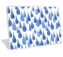 Water drop watercolor hand drawn seamless pattern background. Laptop Skin
