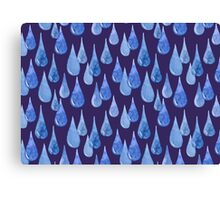 Water drop watercolor hand drawn seamless pattern background. Canvas Print
