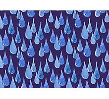Water drop watercolor hand drawn seamless pattern background. Photographic Print