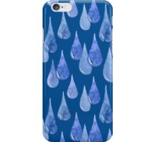 Water drop watercolor hand drawn seamless pattern background. iPhone Case/Skin