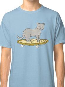 Cat Skateboarding on Pizza Classic T-Shirt