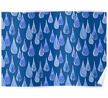 Water drop watercolor hand drawn seamless pattern background. Poster