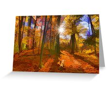 Brilliant, Colorful Autumn Forest Impression Greeting Card