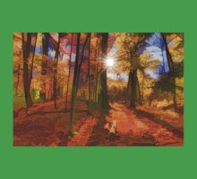 Brilliant, Colorful Autumn Forest Impression Kids Tee
