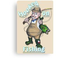 Hooked On Fishing Canvas Print