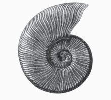 Ammonite Fossil Kids Tee