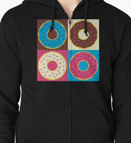 4 Donuts Zipped Hoodie