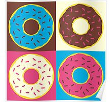 4 Donuts Poster
