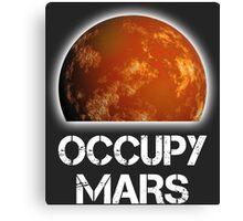 Occupy Mars Half Canvas Print