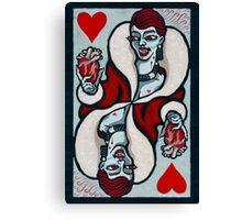 Mina, Vampire Queen of Hearts Canvas Print