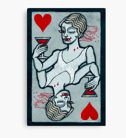Lucy, Vampire Jack of Hearts Canvas Print