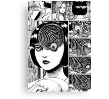 Uzumaki / Spiral - Junji Ito Tshirt (High Quality) Canvas Print
