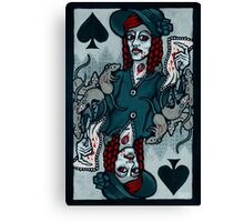 Ellen, Vampire Queen of Spades Canvas Print