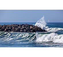 Splashing Sea Photographic Print