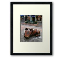 Waiting for the master. Framed Print