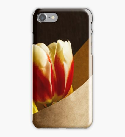 Bouquet of yellow and white red tulips iPhone Case/Skin