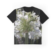 White Bright Agapanthus Graphic T-Shirt