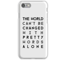 Pretty Words iPhone Case/Skin