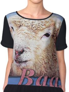 """Baa."" (with background) Chiffon Top"