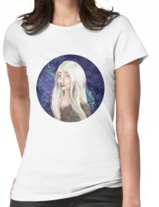 White Forest Elf Womens Fitted T-Shirt