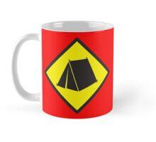 BEWARE tent camping sign Mug