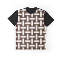 Seamless texture simulating woven fabric Graphic T-Shirt