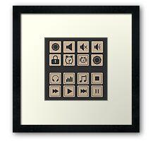 set of icons for web flat design outlines  Framed Print