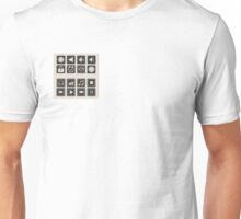 set of icons for web flat design outlines  Unisex T-Shirt