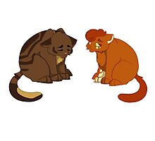 Warrior cats - Brambleclaw and Squirrelflight Photographic Print