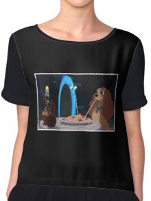 Lady and the Tramp-oline Chiffon Top