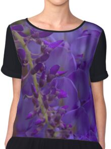 Wysteria Flower Chiffon Top
