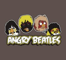 Angry Birds Parody- Angry Beatles - Beatles Parody One Piece - Short Sleeve