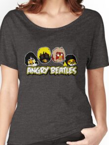 Angry Birds Parody- Angry Beatles - Beatles Parody Women's Relaxed Fit T-Shirt