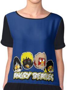 Angry Birds Parody- Angry Beatles - Beatles Parody Chiffon Top