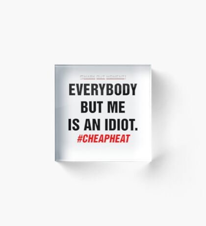 Everybody But Me is an Idiot Acrylic Block