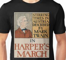 Artist Posters Stirring times in Austria described by Mark Twain in Harper's March 0009 Unisex T-Shirt