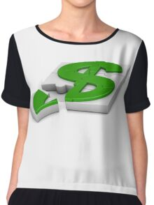 surround a dollar sign puzzle  Chiffon Top