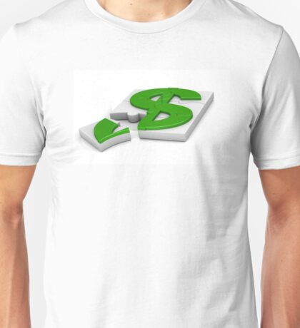 surround a dollar sign puzzle  Unisex T-Shirt