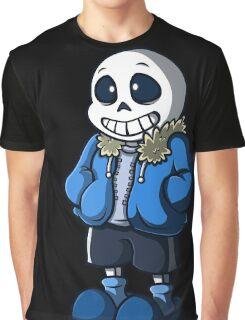 Sans Cartoon Style Graphic T-Shirt