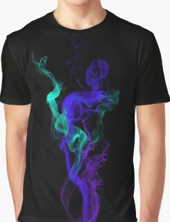 Cool Abstract Colorful Smoke  Graphic T-Shirt