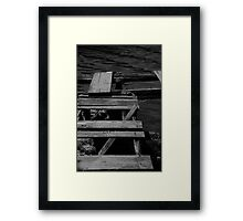 The Jetty in B&W Framed Print