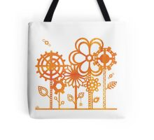 Orange Steampunk Flowers Tote Bag