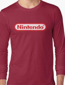 Retro NES Nintendo Logo Long Sleeve T-Shirt