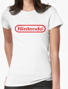 Retro NES Nintendo Logo Womens Fitted T-Shirt